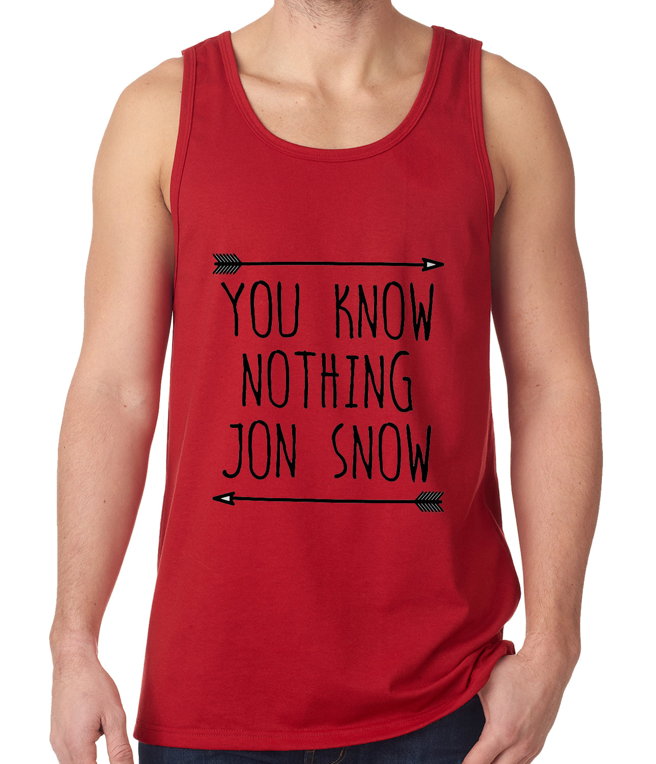You Know Nothing Jon Snow Tank Top Red
