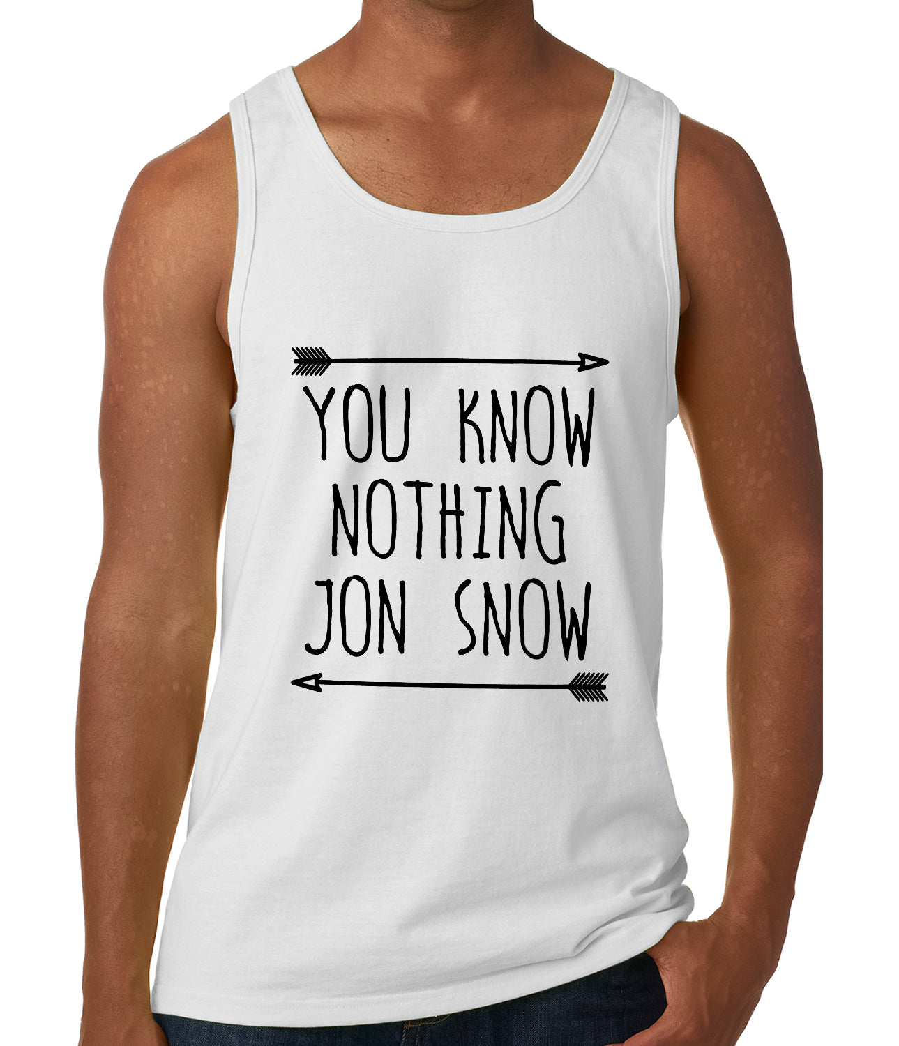 You Know Nothing Jon Snow Tank Top White