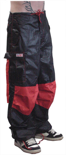 Black / Red Two Tone UFO Pants