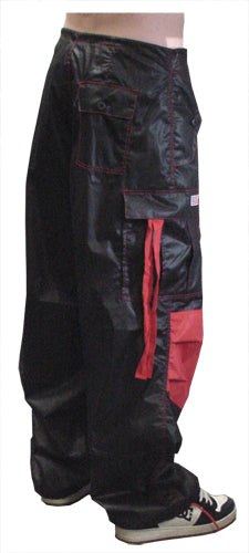 Black / Red Two Tone UFO Pants Back