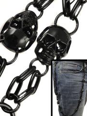 Black Skull of Death Jean and Wallet Chain