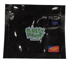 "BLACK Smelly Proof Bags - 10 Pack of Small 6"" x 4"" Black Bags"