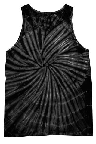 Black Spider Tie Dye Tank Top