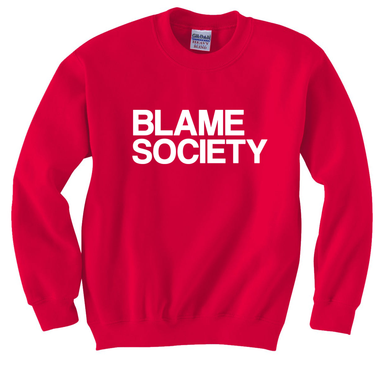 Blame Society Hip Hop Crew Neck Sweatshirt