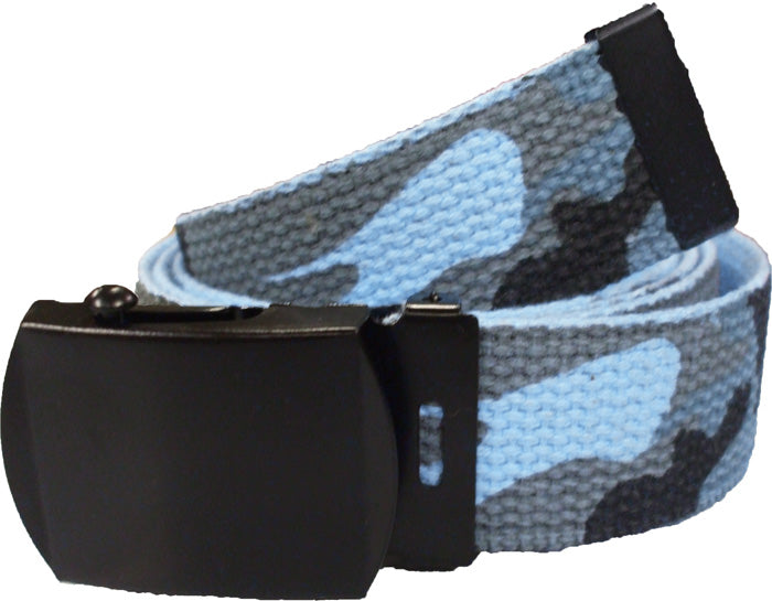 Blue Camo / Lt Blue Reversible Web Belt
