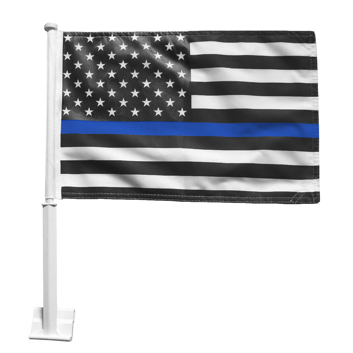 Blue Line American Flag Car Window Flags