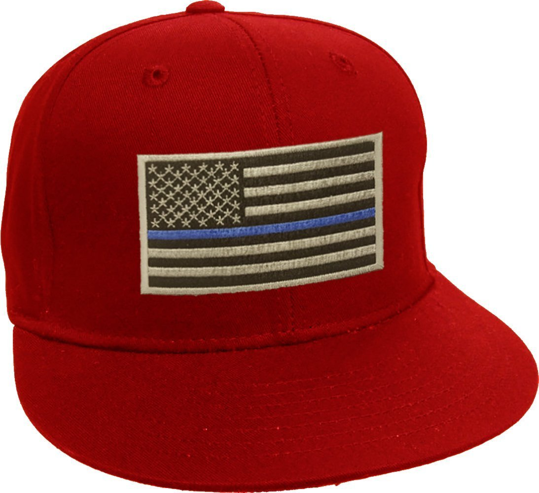 Blue Line American Flag Patch Snap Back - Blue Lives Matter - American Flag Blue Line Hat