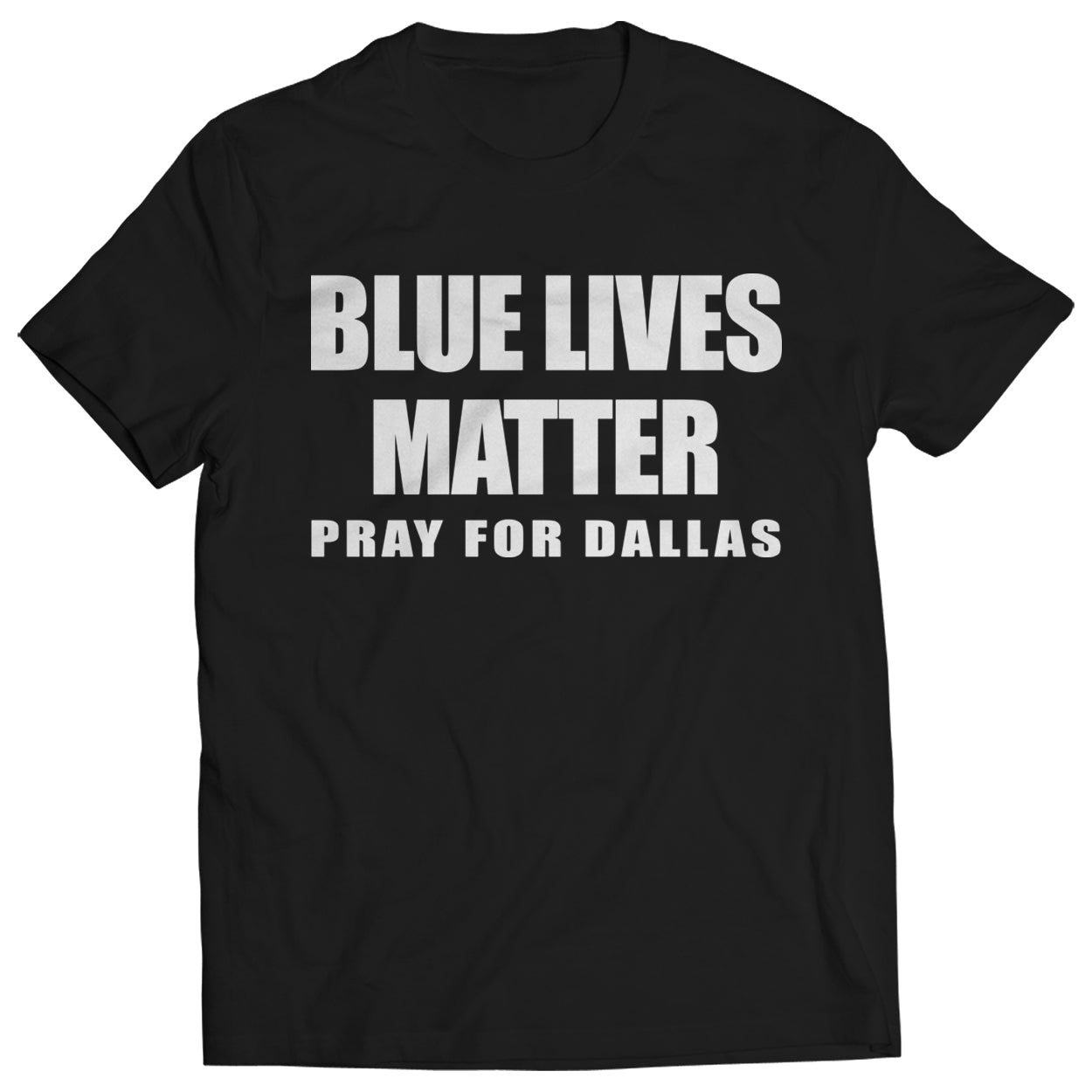 Blue Lives Matter - Pray For Dallas Kids T-shirt