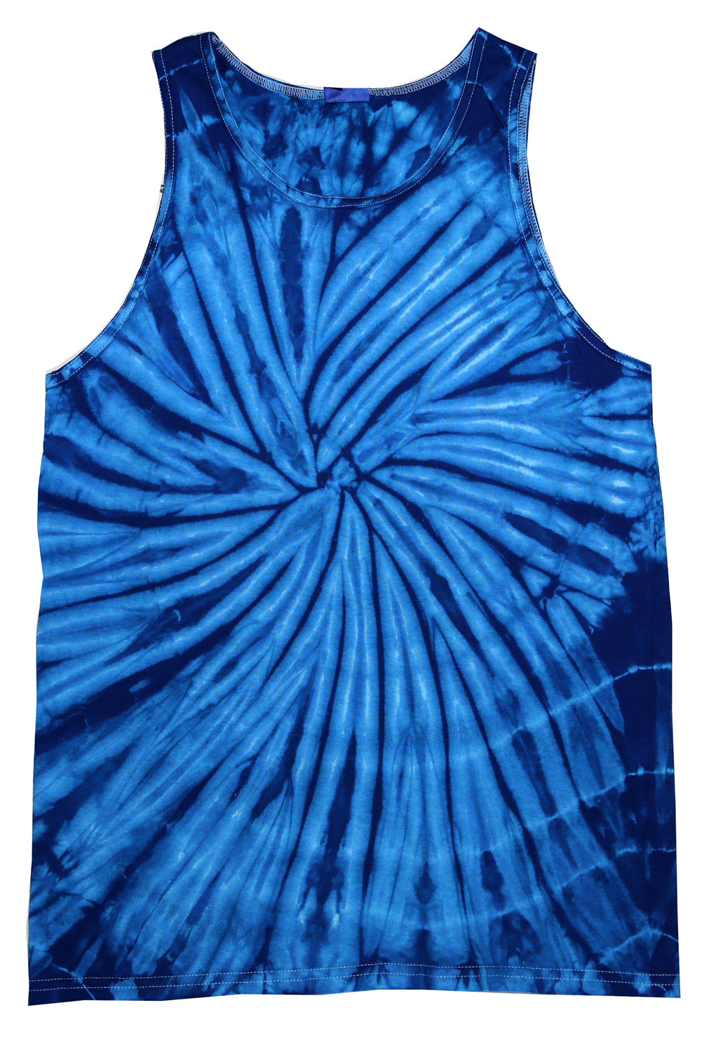 Blue Spider Tie Dye Tank Top