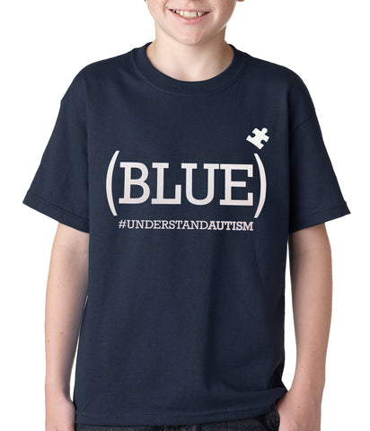 (BLUE) #UNDERSTAND AUTISM Kids T-shirt Navy Blue