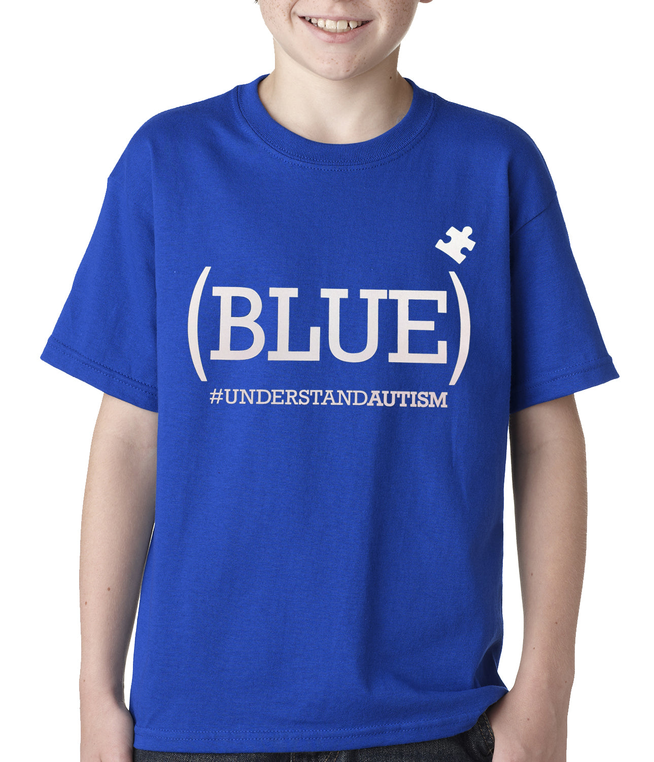 (BLUE) #UNDERSTAND AUTISM Kids T-shirt Royal Blue