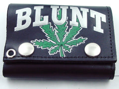 Blunt Pot Leaf Genuine Leather Chain Wallet