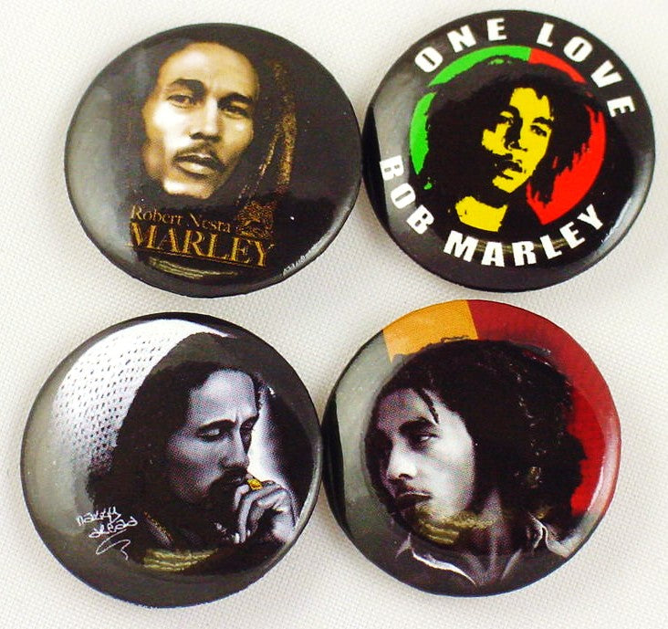 Bob Marley Button Pin Collection