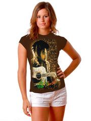 "Bob Marley ""Is This Love"" Girls T-Shirt (Brown)"