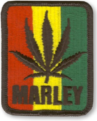 Bob Marley Rasta Leaf Patch