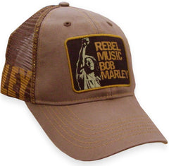 Bob Marley Rebel Music Trucker Hat