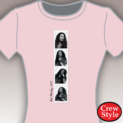 "Bob Marley ""Slideshow"" Girls T-Shirt"
