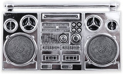 Boom Box Chrome Belt Buckle With FREE Leather Belt