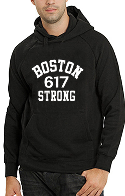 Boston 617 Strong Adult Hoodie