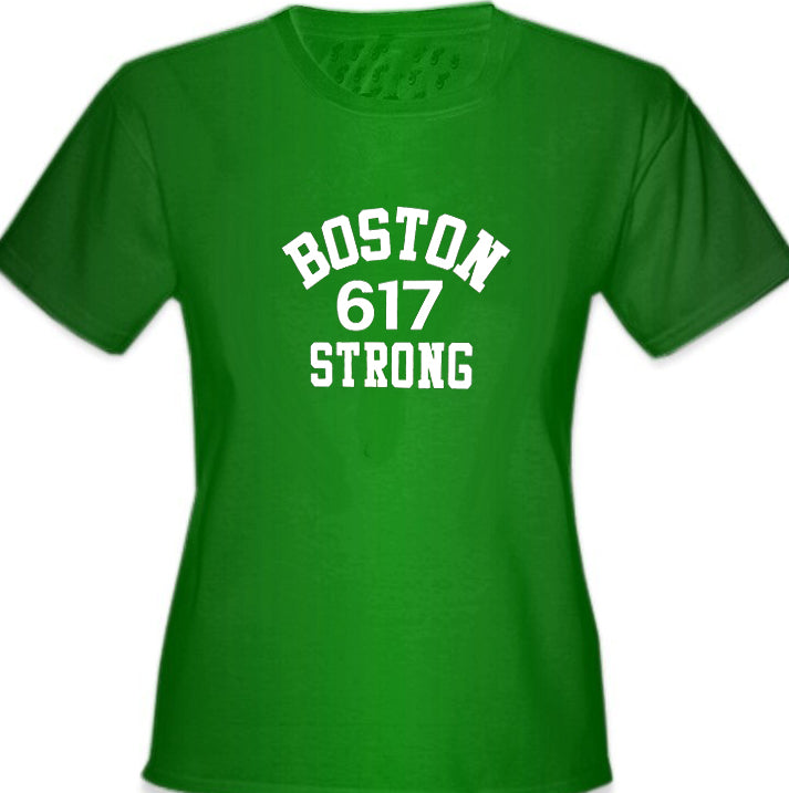 Boston 617 Strong Girl's T-Shirt