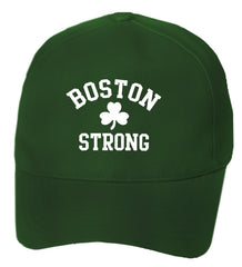 Boston Strong Irish Shamrock Baseball Hat Forest Green