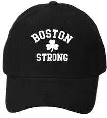 Boston Strong Irish Shamrock Baseball Hat Black
