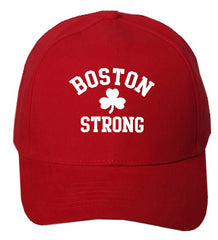 Boston Strong Irish Shamrock Baseball Hat Red