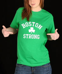Boston Strong Irish Shamrock Girl's T-Shirt