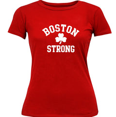 Boston Strong Irish Shamrock Girl's T-Shirt Red