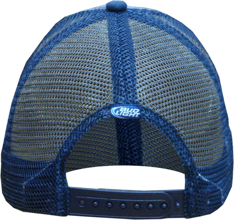"Bottle Opener Hats - Bud Light ""Pinstripe"" Bottle Opener Trucker Hat"