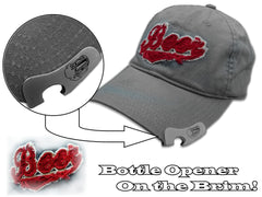 Bottle Opener Hats -Vintage Beer Logo Bottle Opener Hat