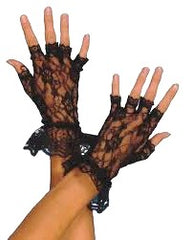 Boy Toy Lace Fingerless Gloves