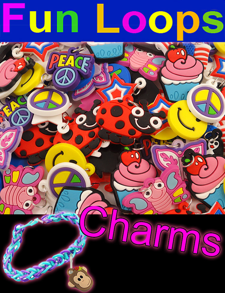 Bracelet Charms For Rainbow Loom Bracelets (Set Of 12)