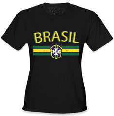 Brasil Vintage Shield International Girls T-Shirt