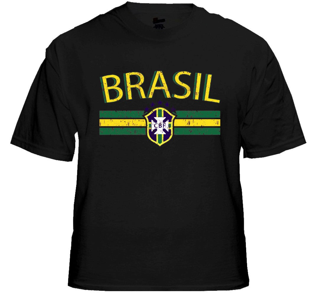 Brasil Vintage Shield International Mens T-Shirt
