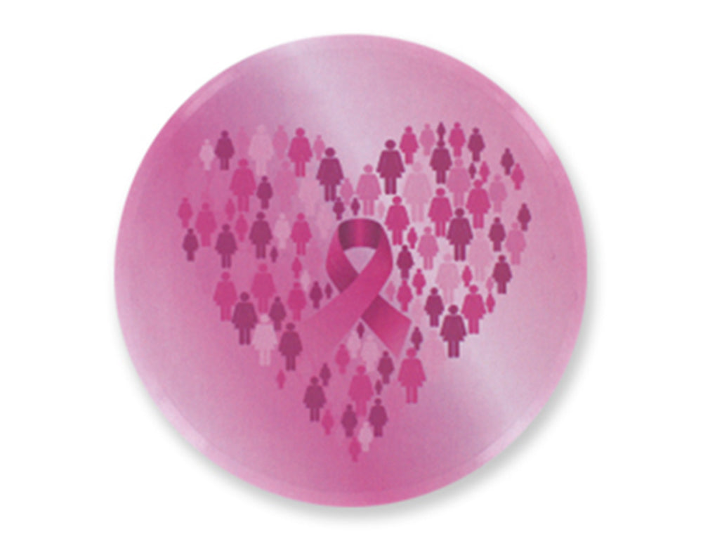 Breast Cancer Awareness 3 Inch Round Mirror (Assorted)
