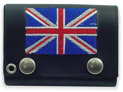British Flag Genuine Leather Chain Wallet