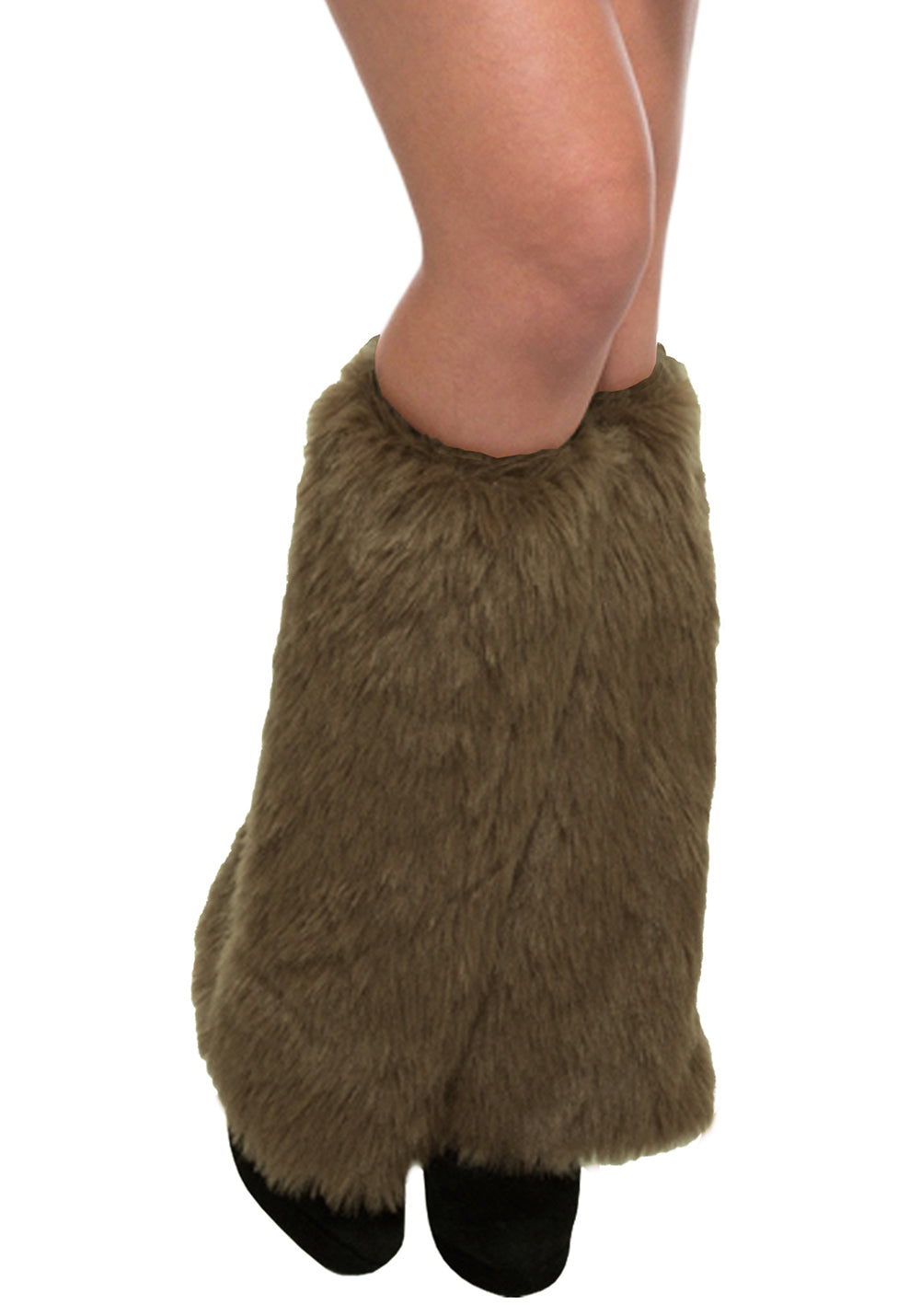 Brown Furry Leg Warmers