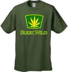 Buck Wild Pot Leaf Men's T-Shirt