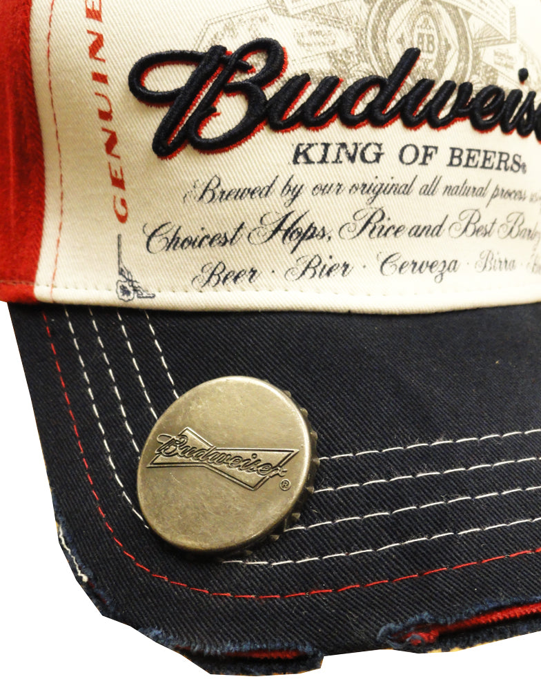 Budweiser Classic Stretch Fit Bottle Opener Baseball Hat
