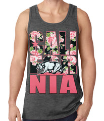 California Floral Pattern Tank Top