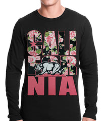 California Floral Pattern Thermal Shirt