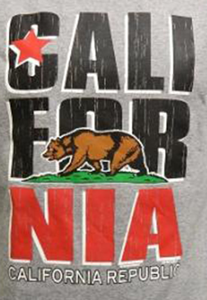 California Republic 3/4 Sleeve Men's Baseball T-Shirt