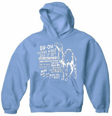 Camel Hump Day Guess What Adult Hoodie
