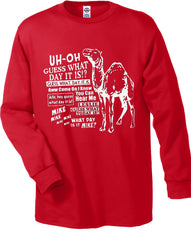 Camel Hump Day Long Sleeve T-Shirt (Men's) Red
