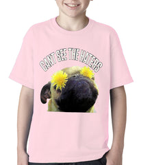 Can't See The Haters Funny Pug Kids T-shirt