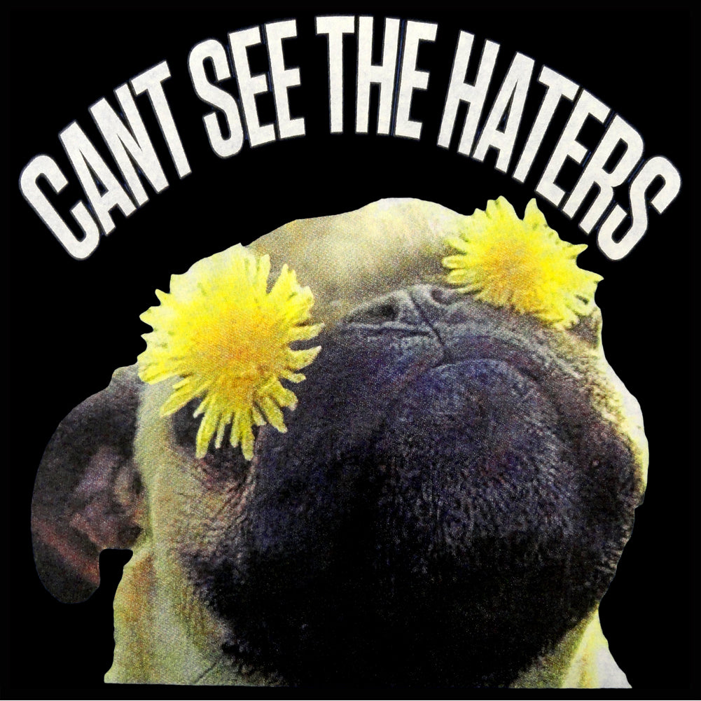 Can't See The Haters Funny Pug Adult Crewneck
