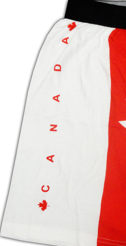 Canadian Flag Boxer Shorts Side View