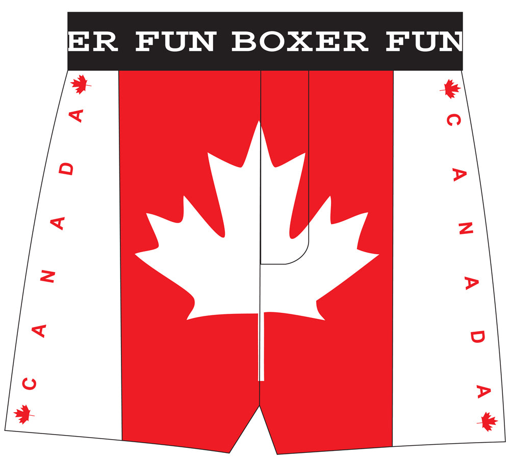 Canadian Flag Boxer Front View