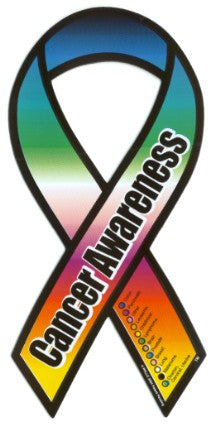 Cancer Awareness Car Magnet (Rainbow)
